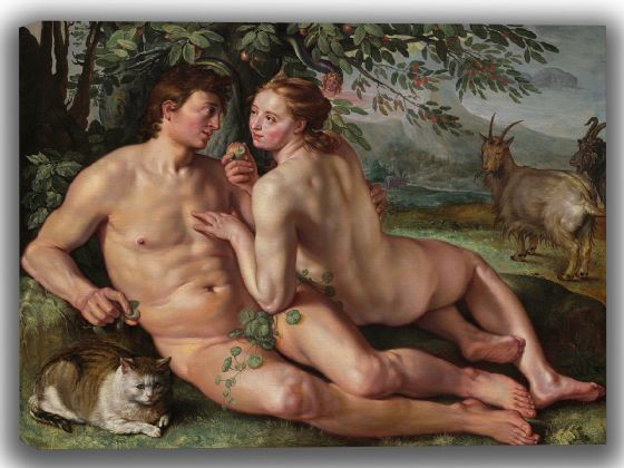 Goltzius, Hendrick: The Fall of Man. Fine Art Canvas. Sizes: A4/A3/A2/A1 (004099)